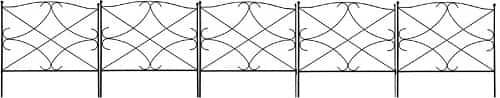 Amagabeli Decorative Garden Fence 24in x 10ft