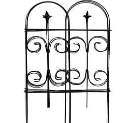 Amagabeli Decorative Garden Fence 32in x 12ft Fencing Rustproof Black Iron