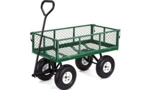 Gorilla Carts GOR400-COM Steel Garden Cart with Removable Sides
