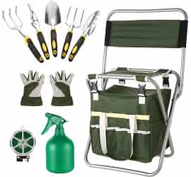 Homdox 10 Piece Garden Tools Set