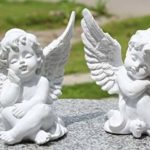 KiaoTime l Set of 2 Resin Adorable Cherubs Angels Statues